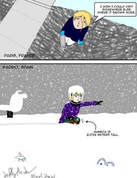 Bored Larima: It snowed somewhere else..