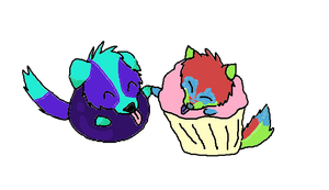 Blueberry Cupcakes by rexyplexy