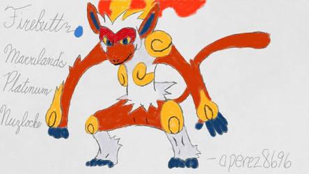[Marriland's Platinum Nuzlocke] Firebutt by aperez8696