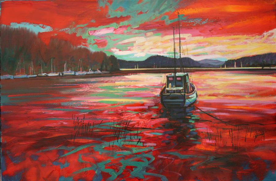 Il mondo di mary antony i paesaggi colorati di scott naismith for Disegni colorati paesaggi