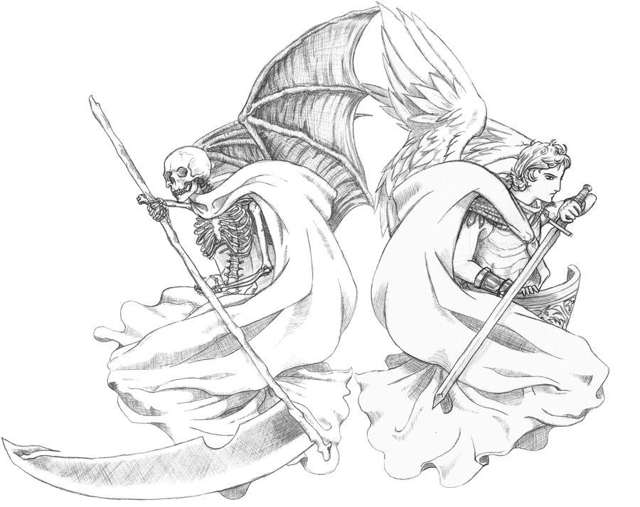 Drawings Angels Demons