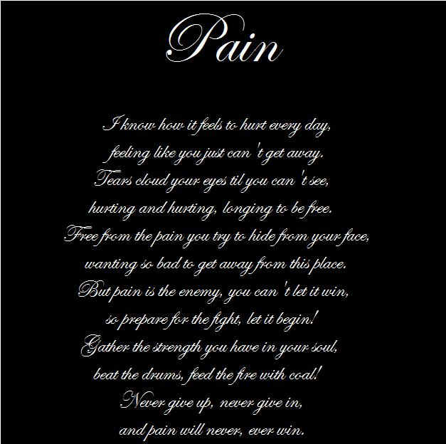 Pain      POEM by purpledragonmaster - English Poetry Competition April 2015