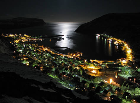 Kjoellefjord by Night