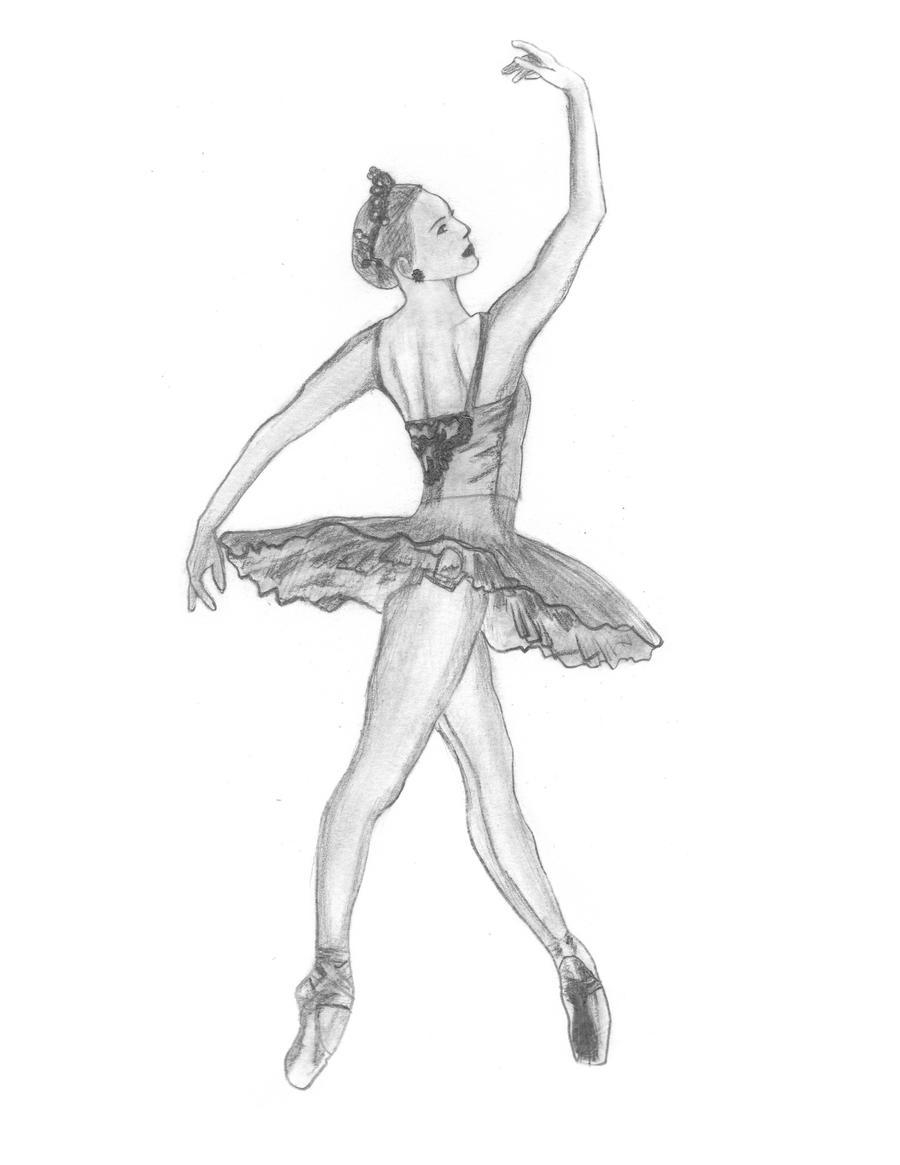Картинки с балериной карандашом, кодами