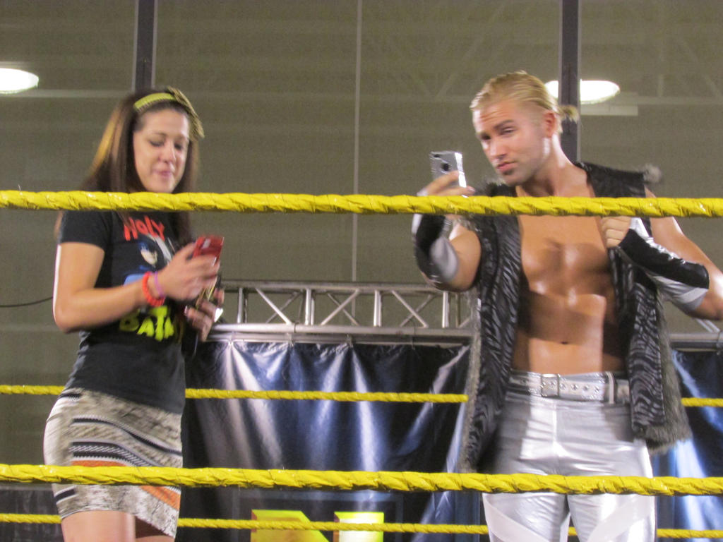 Bayley and Tyler Breeze by Choleric-Codebreaker