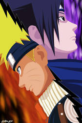 Naruto-Sasuke Totally Opposed