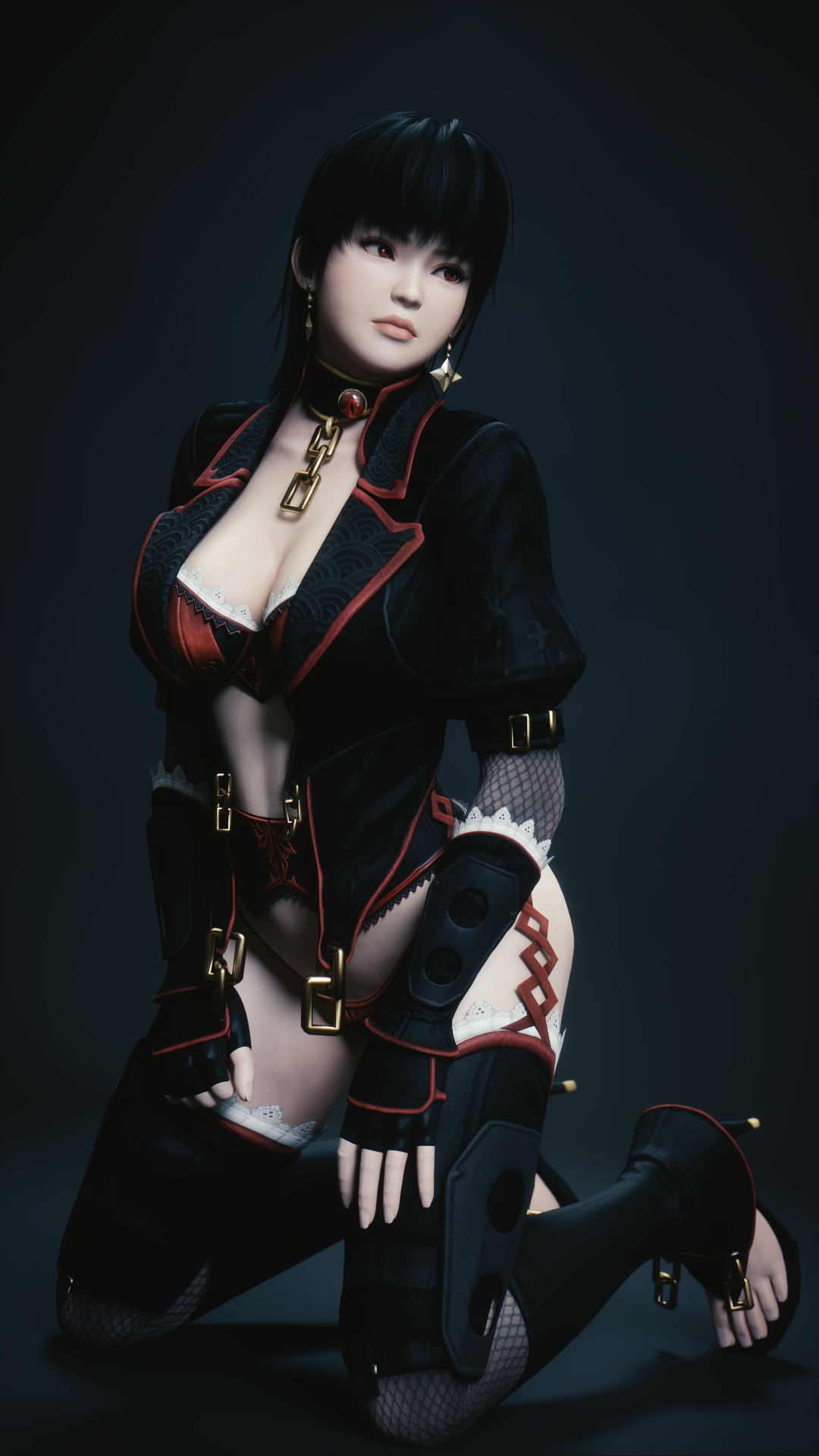 Gothic Ayane Backdrop (Portrait) by Chrissy-Tee