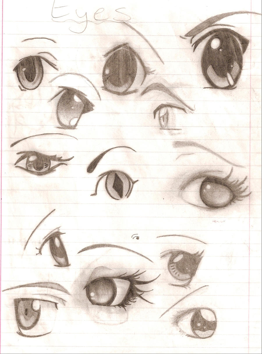 old eye sketches by alldolledup47