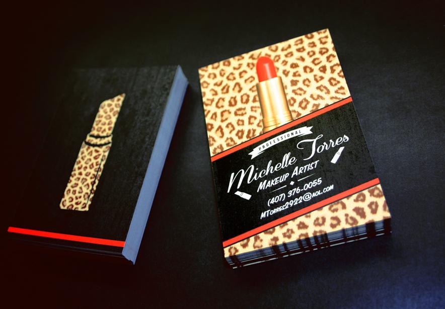 Makeup artist business card by vsmj on deviantart for Makeup artist quotes for business cards