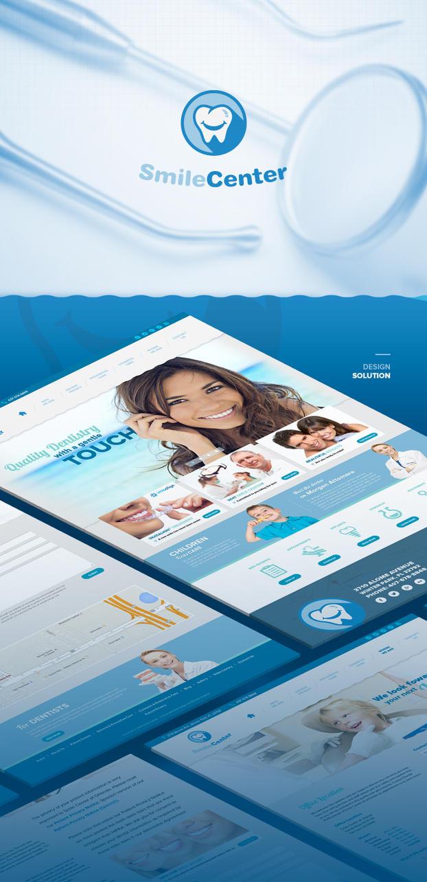 Smile Center redesign by vsMJ
