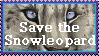 Snowleopard _ Stamp by TheKarelia