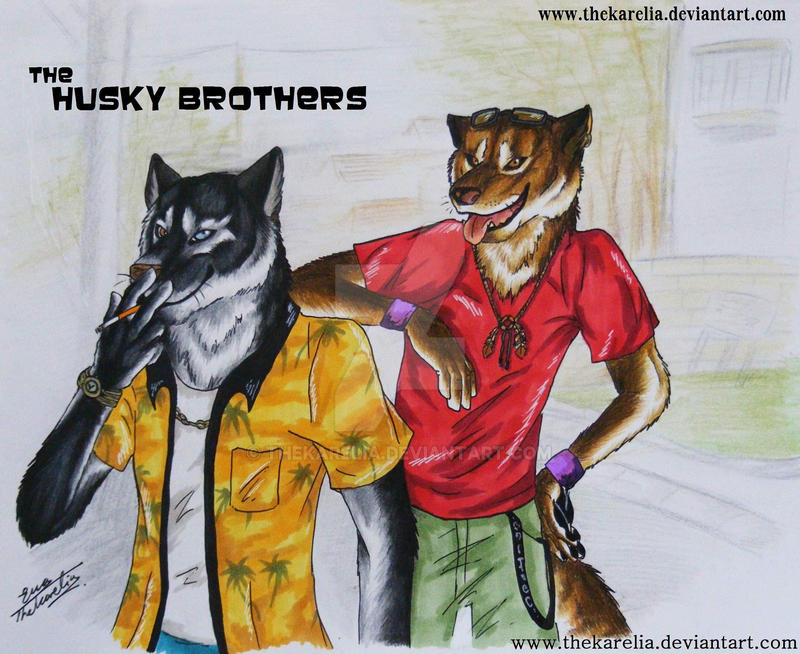 The Husky Brothers by TheKarelia