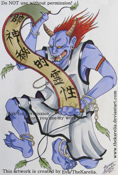 Dancing Noh Demon by TheKarelia