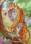 Jaguar and Snake_Tattoo Design by TheKarelia