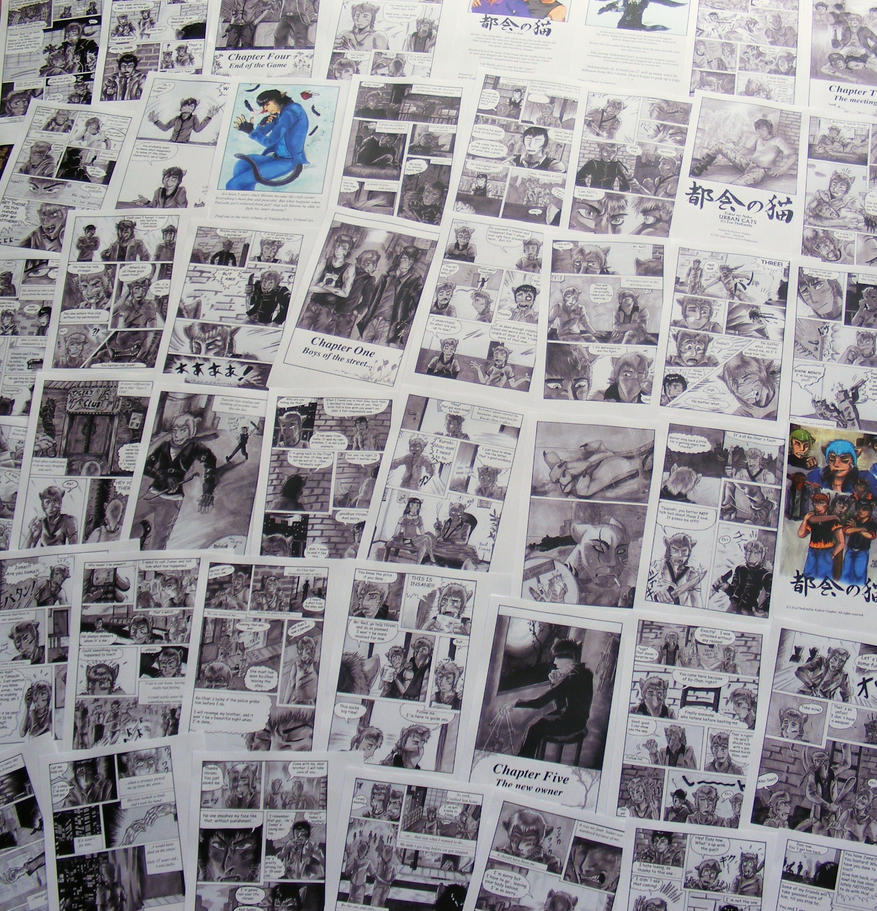 Printed Manga Pages I by TheKarelia