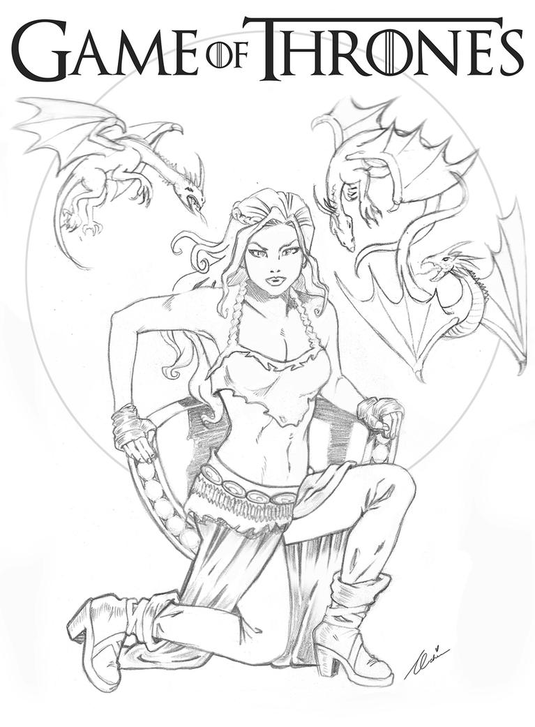 game of thrones coloring pages khaleesi - photo #14