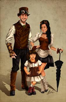 Rubicle Steampunk Family Portrait