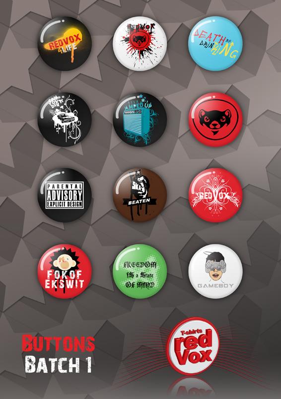 REDVOX Batch 1 Buttons by IAMREDVOX