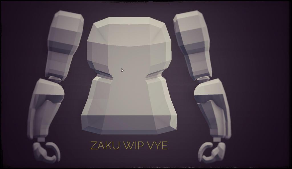 Zaku V WIP by Vyechi