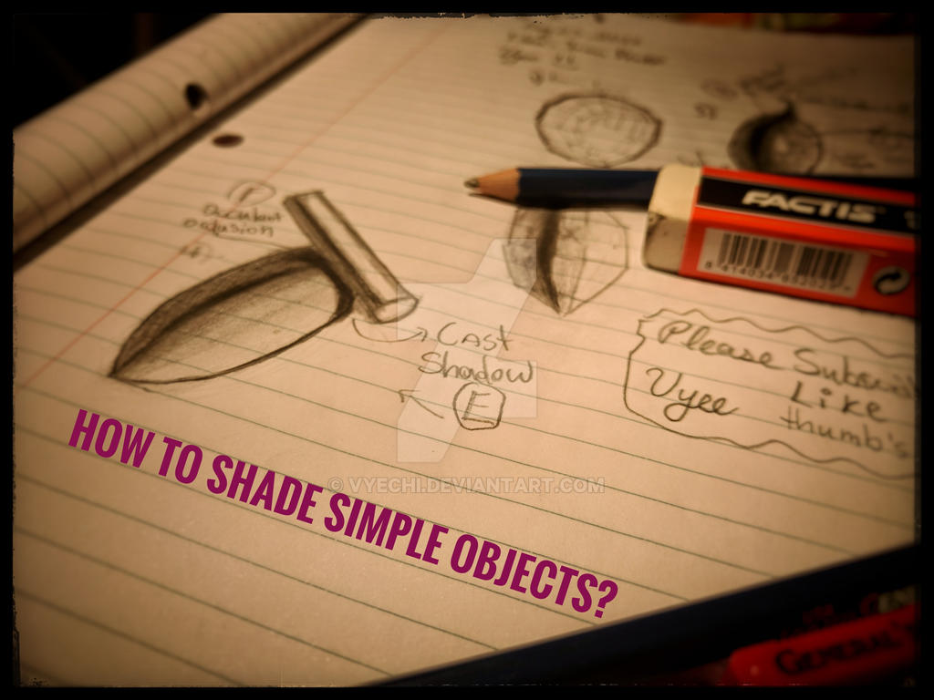 How to shade simple objects? by Vyechi