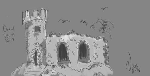 Ruined Castle by Vyechi