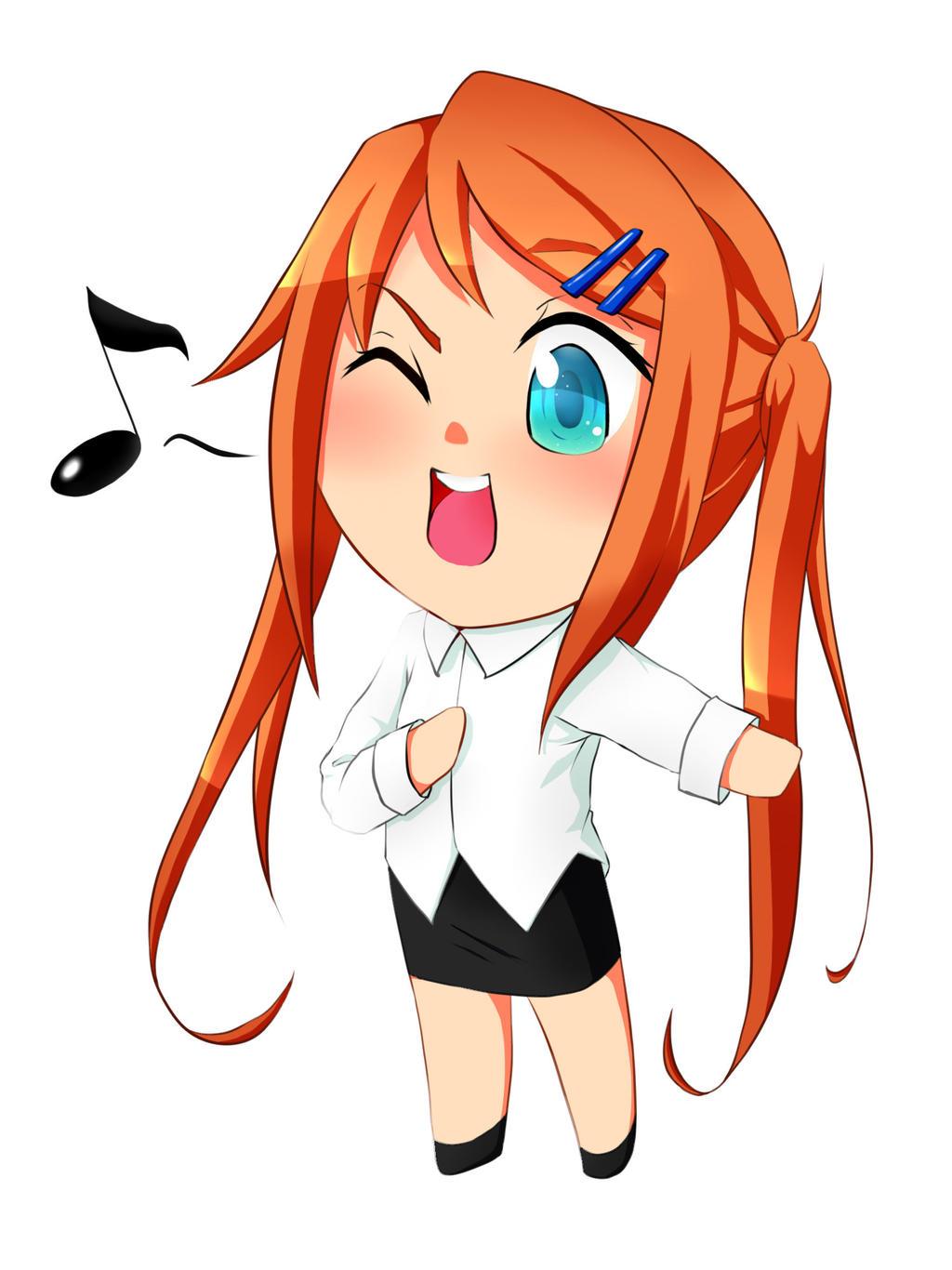Anime Girl Singing Room