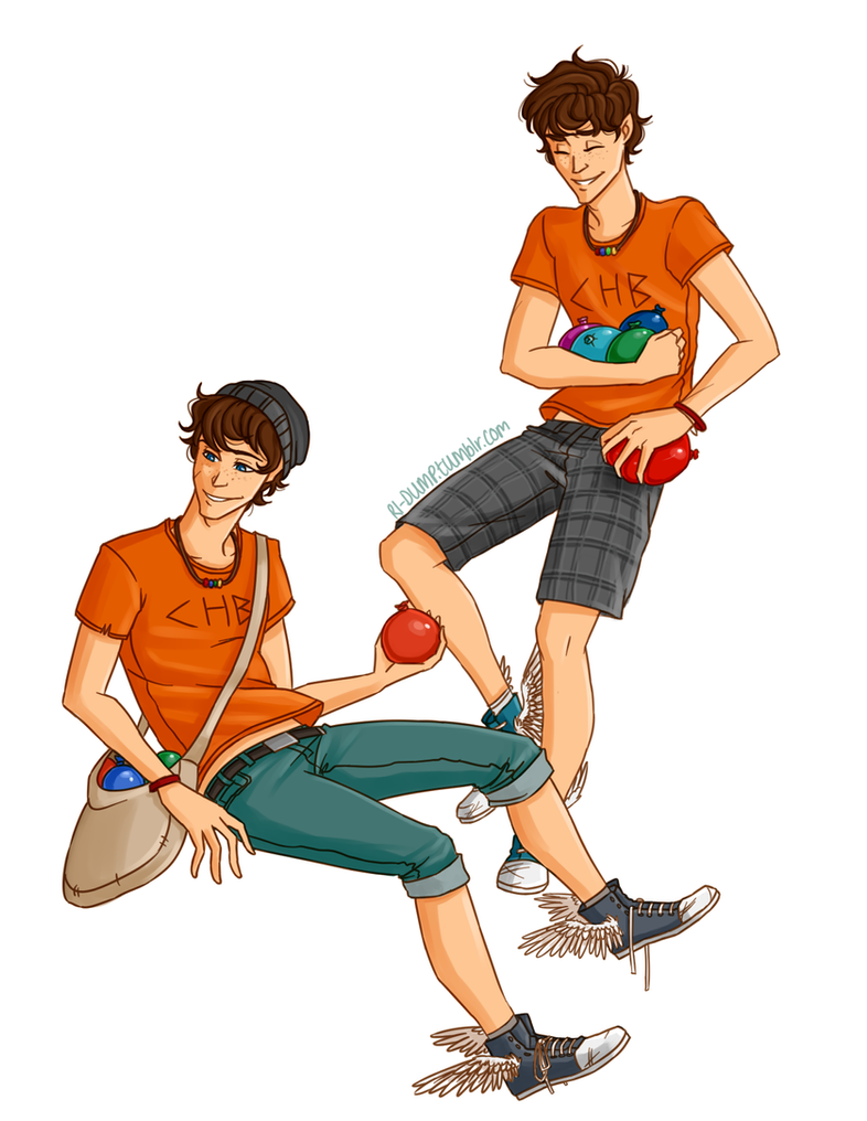 Connor And Travis Stoll by Riding-Lights on DeviantArt
