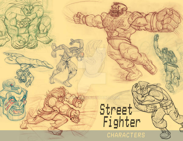 Street Fighter SketchBook Page