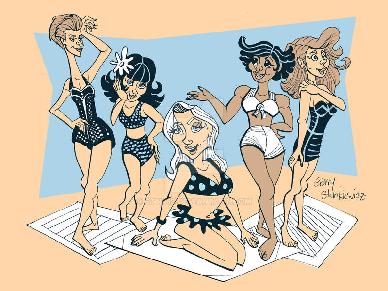 1950s Beach Girls by Stnk13