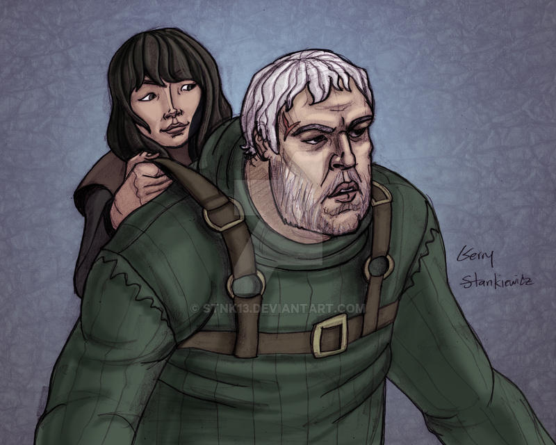 Hodor and Bran by Stnk13