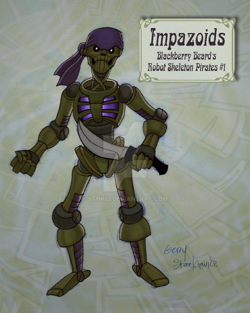 Captain Blackberry Beards Robot Skeleton Pirates by Stnk13