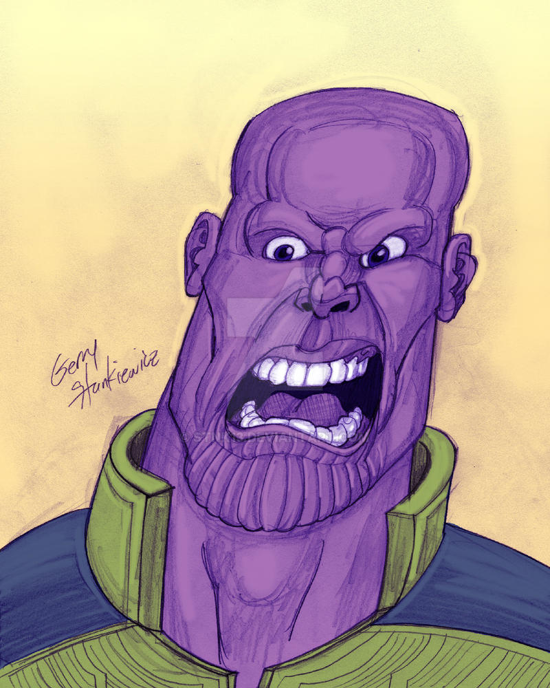 Thanos Sketch by Stnk13