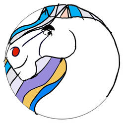Thunder The White Stallion Sticker 6