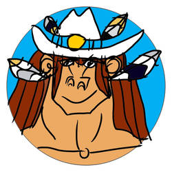 Tala The Female Cowboy Smilling Sticker 7