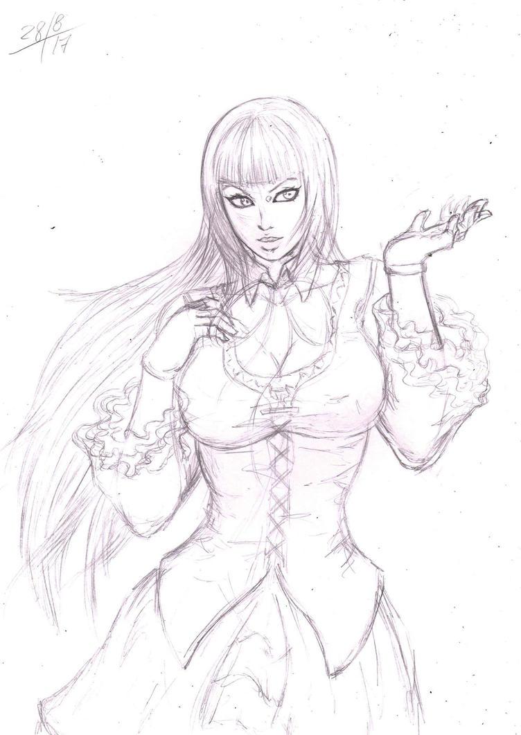 Lili Tekken 7 pecil by Julio-Leo
