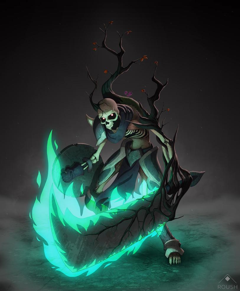Skeleton Blademaster by AdamRoush