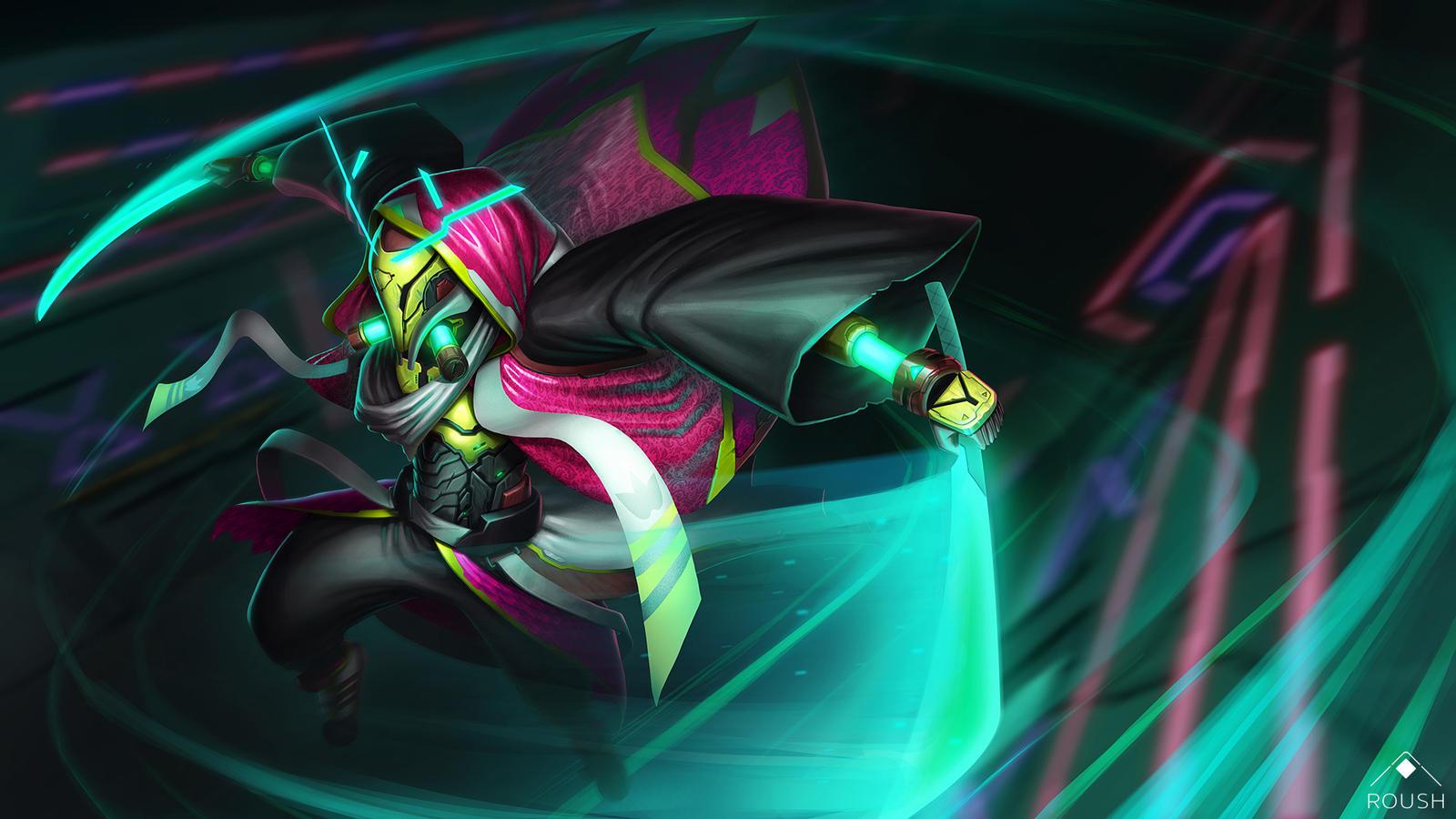 Cyberpunk Samurai by AdamRoush