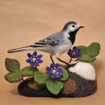 Needle felted White Wagtail