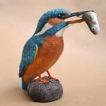 Needle felted Kingfisher 2