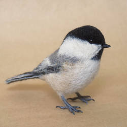 Needle felted Willow tit