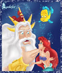 Ariel and the king of the sea