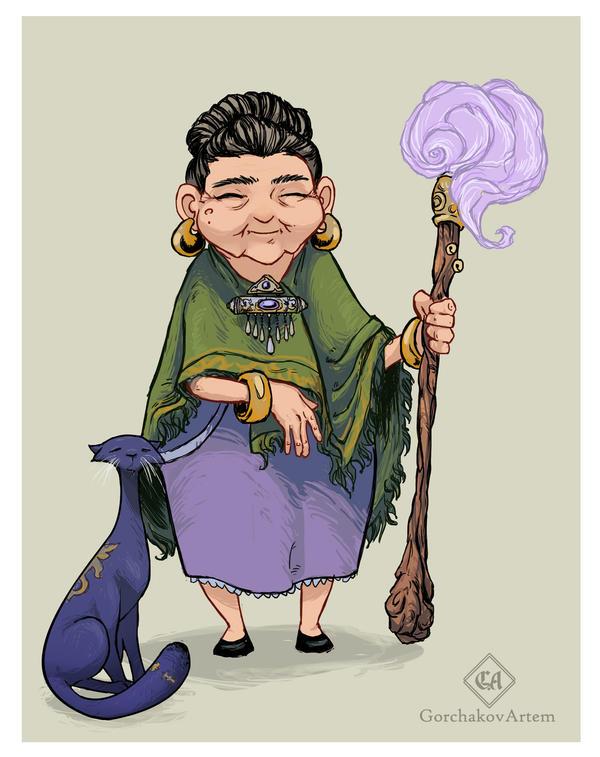 personage- Kazakh grandmother by GorchakovArtem
