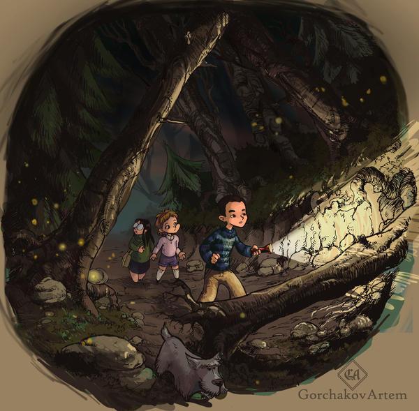 in the dark forest by GorchakovArtem