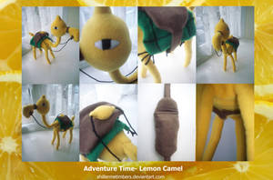 Adventure Time: Lemon Camel Plush by shillermetimbers