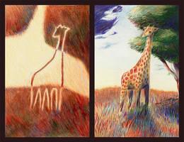 giraffe diptych by aocom