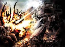 Mecha Battle by Keta-Minou