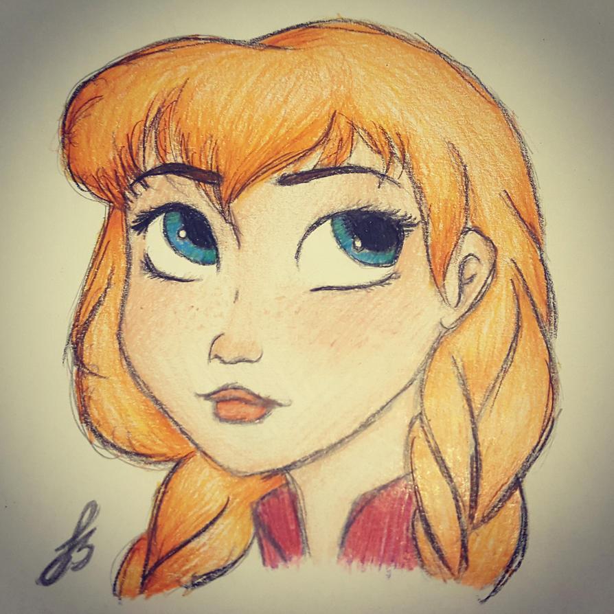 Anna Sketch ~Finished~ by STAR1518jb