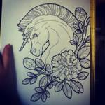 Unicorn Tattoo Design
