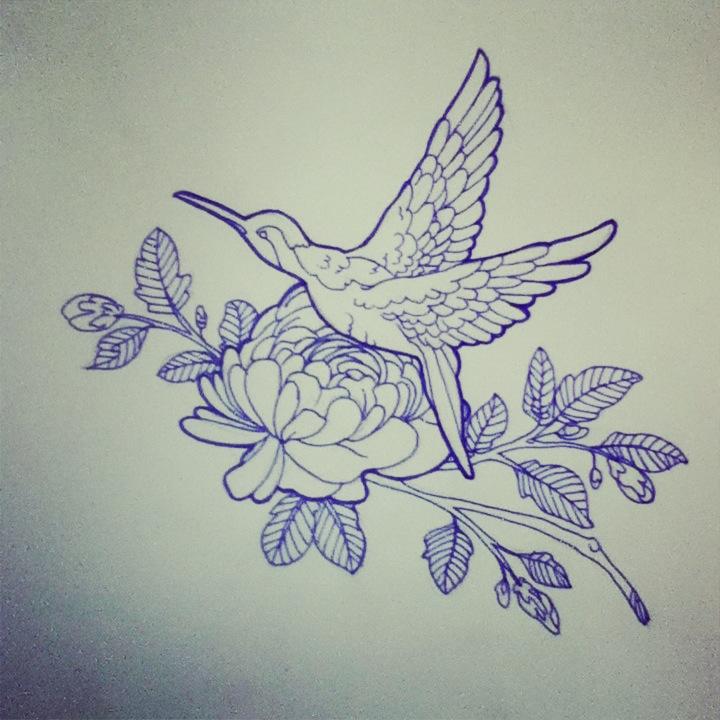 Hummingbird Tattoo Des...