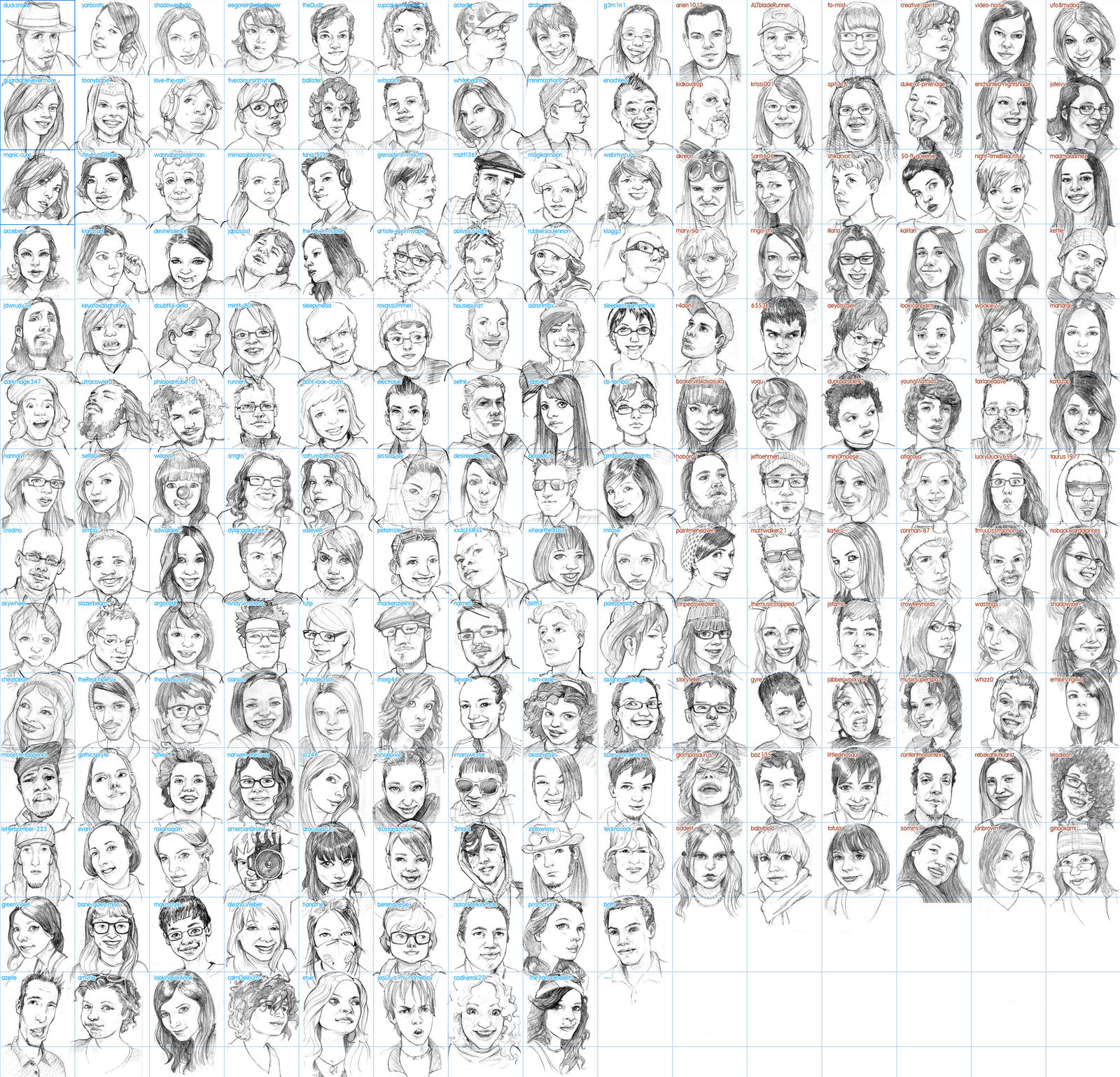 DaMP sketch v5- 197 faces by jasinski